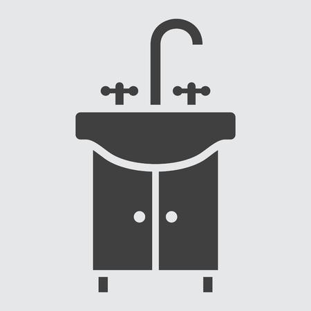 wash hand: Wash hand basin icon illustration isolated vector sign symbol Illustration