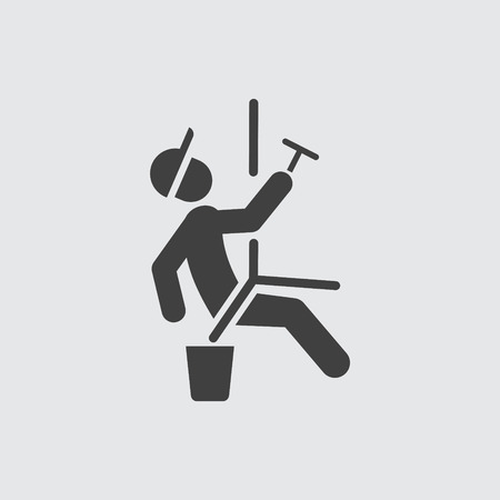 Window cleaner icon illustration isolated vector sign symbol