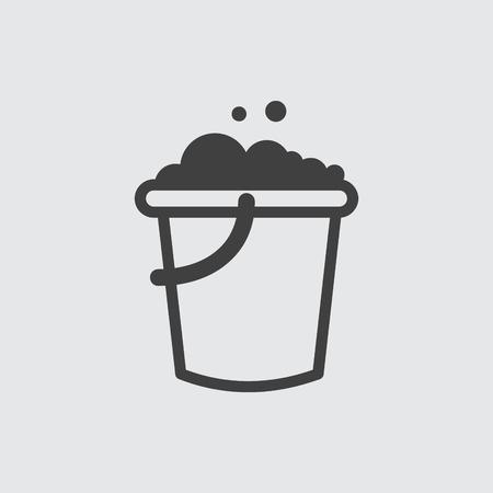 bucketful: Bucket icon illustration isolated vector sign symbol Illustration
