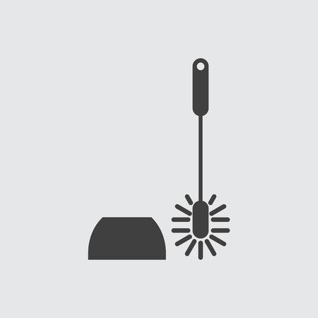 toilet brush: Toilet brush icon illustration isolated vector sign symbol