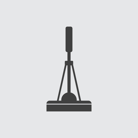black floor: Cleaning mop icon illustration isolated vector sign symbol Illustration
