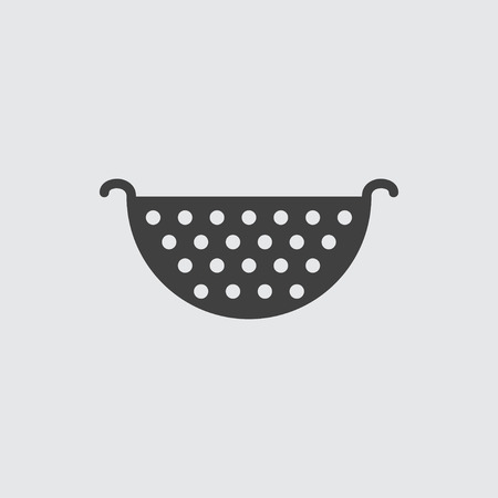 colander: Colander icon illustration isolated vector sign symbol
