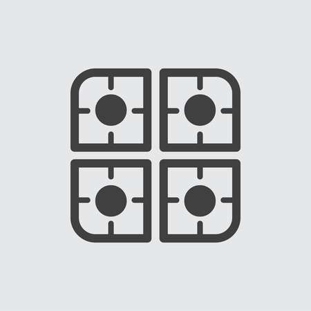 slow food: Cooker icon illustration isolated vector sign symbol Illustration