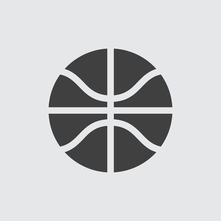 balon de basketball: Basketball ball icon illustration isolated vector sign symbol