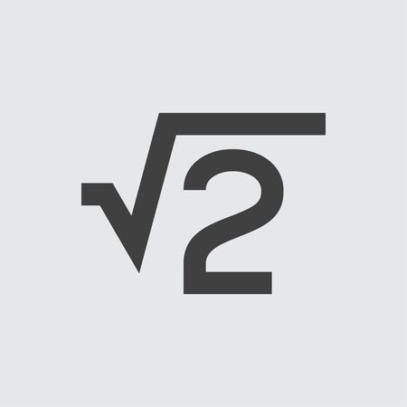 square root: Square root icon illustration isolated vector sign symbol Illustration