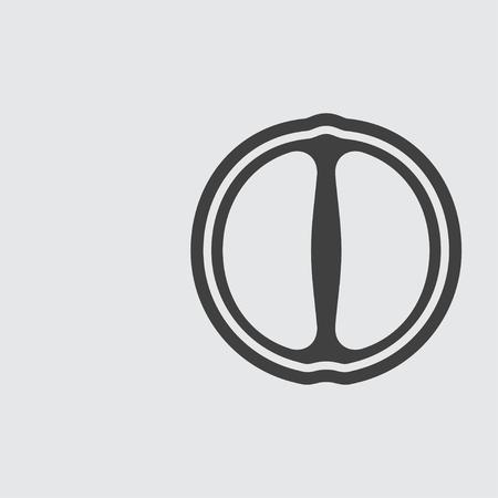 mandarin: Mandarin icon illustration isolated vector sign symbol