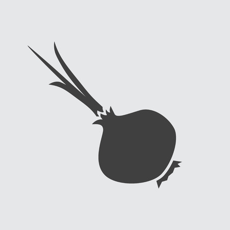 odors: Onion icon illustration isolated vector sign symbol