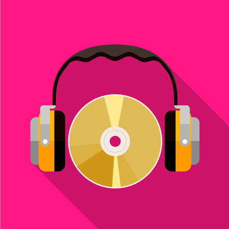 CD and headphones icon illustration isolated vector sign symbol