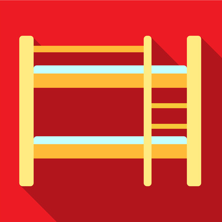 bunk: Bunk bed flat icon illustration isolated vector sign symbol