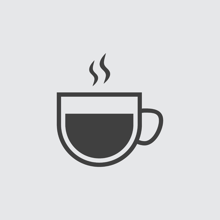 coffe break: Hot coffee cup icon illustration isolated vector