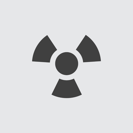 emanation: Radiation icon illustration isolated vector