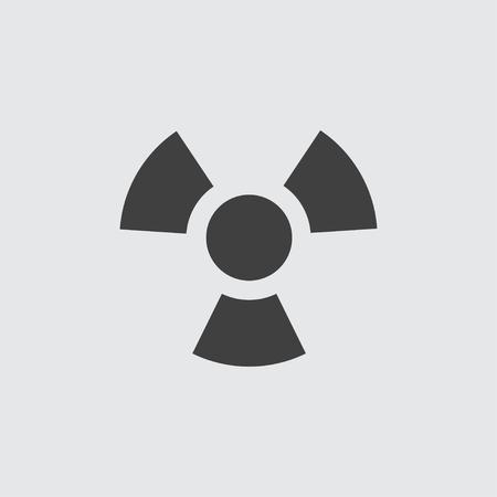 plutonium: Radiation icon illustration isolated vector