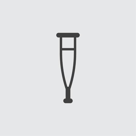 forearm: Crutch icon illustration isolated vector