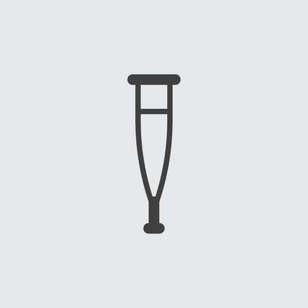 forearm: Crutch icon illustration isolated vector