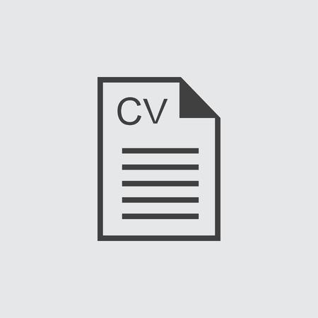 employ: CV icon illustration isolated vector sign symbol Illustration