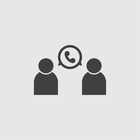 phone conversation: Phone conversation icon illustration isolated vector sign symbol