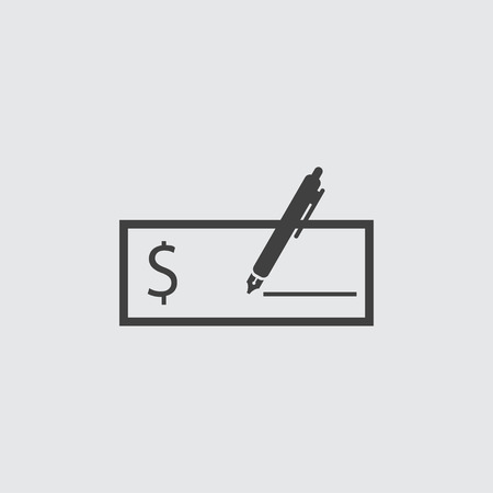 savings account: Check icon illustration isolated vector sign symbol