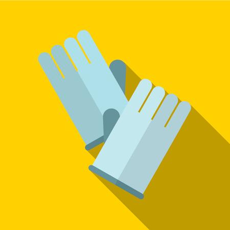 latex glove: Glove flat icon illustration isolated vector sign symbol