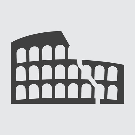 amphitheater: Colosseum icon illustration isolated vector sign symbol