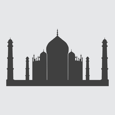 mausoleum: Taj Mahal icon illustration isolated vector sign symbol