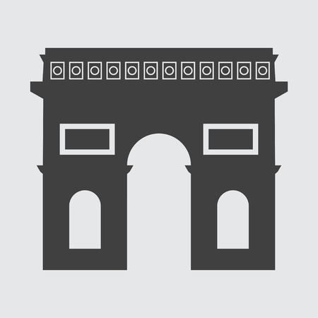 triumphal: Triumphal Arch icon illustration isolated vector sign symbol