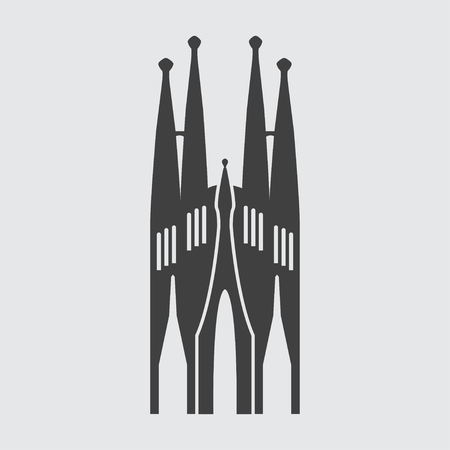 gaudi: Sagrada Familia icon illustration isolated vector sign symbol