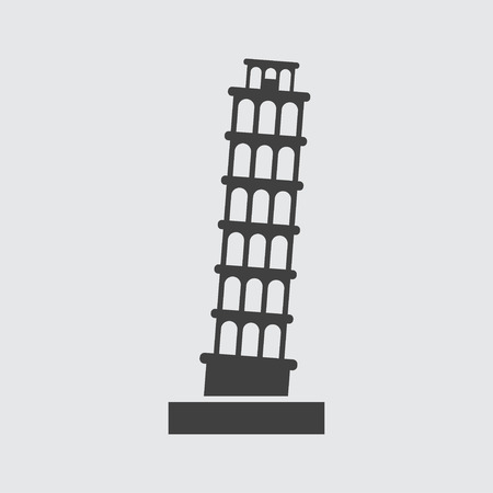 Pisa Tower icon illustration isolated vector sign symbol