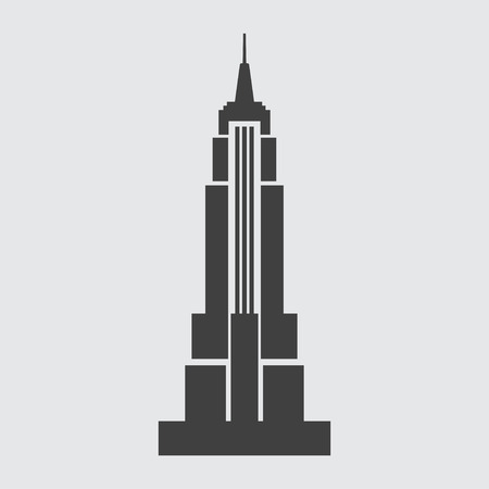 state: Empire State Building icon illustration isolated vector sign symbol