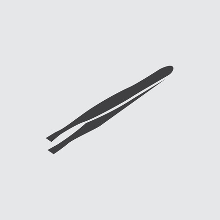 tweezers: Tweezers icon illustration isolated vector sign symbol