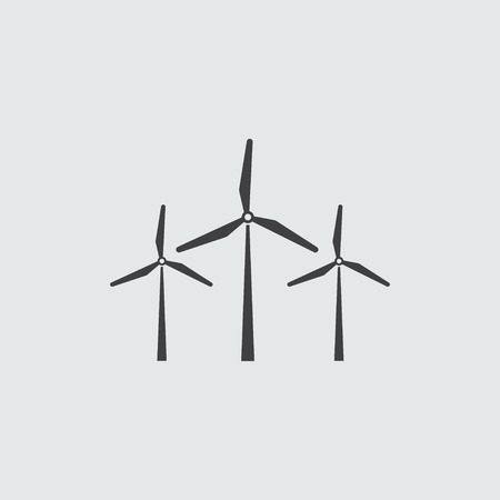 windfarm: Wind mill icon illustration isolated vector sign symbol