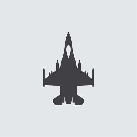 Avion icône illustration vecteur isolé signe symbole