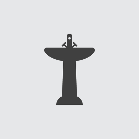 washstand: Sink icon illustration isolated vector sign symbol