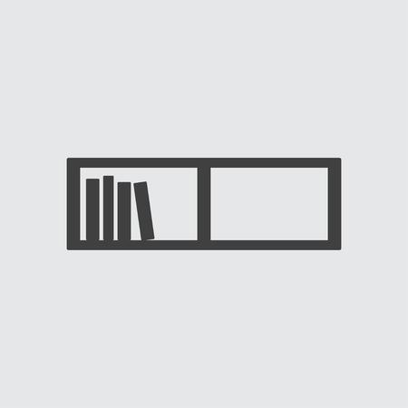 book shelf: Book shelf icon illustration isolated vector sign symbol