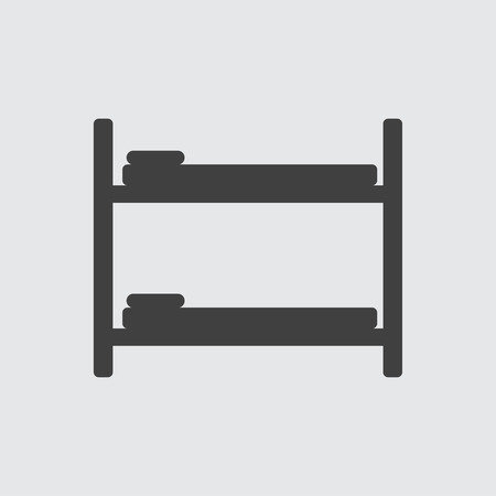bunk bed: Bunk bed icon illustration isolated vector sign symbol Illustration