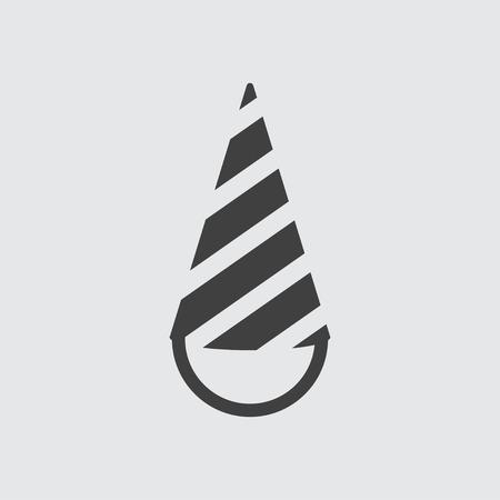 festive occasions: Cone cap icon illustration isolated vector sign symbol