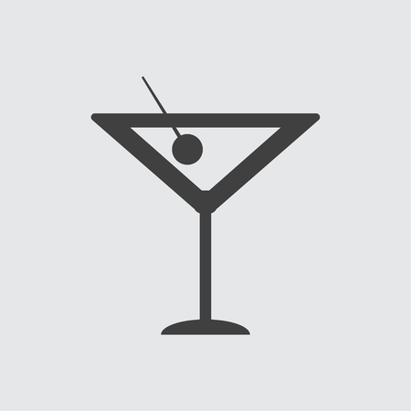 champagne cups: Cocktail icon illustration isolated vector sign symbol