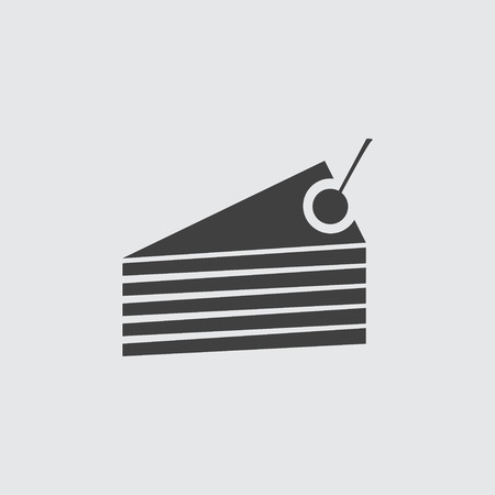 piece of cake: Cake piece icon illustration isolated vector sign symbol Vectores