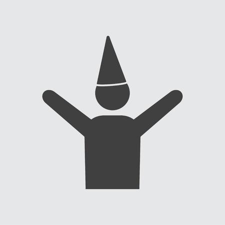 celebrating: Celebrating man icon illustration isolated vector sign symbol