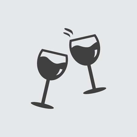 clink: Glasses clink icon illustration isolated vector sign symbol