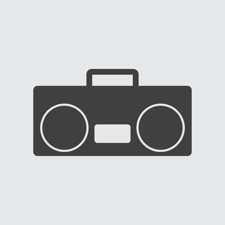 ghetto blaster: Tape recorder icon illustration isolated vector sign symbol