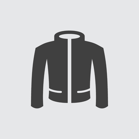 red cardigan: Jacket icon illustration isolated vector sign symbol