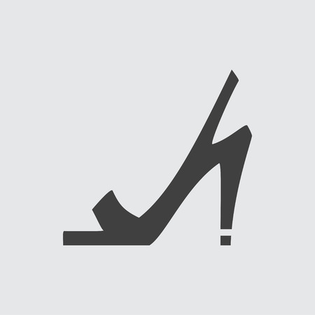 sandals: High heeled sandals icon illustration isolated vector sign symbol