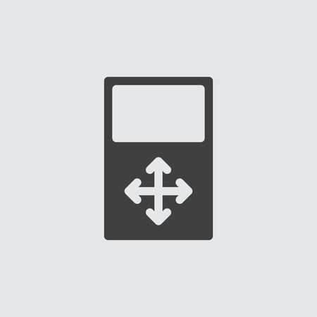 top pointer: Move icon illustration isolated vector Illustration