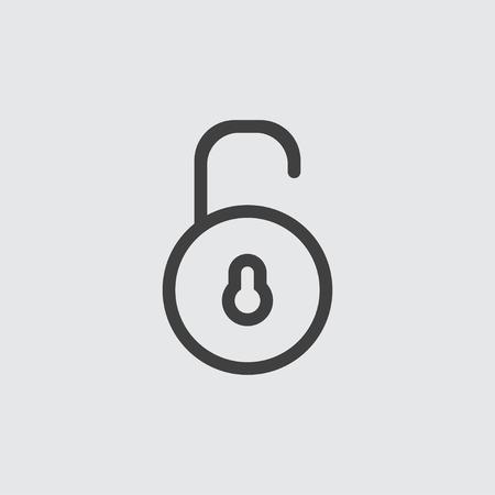 secret codes: Unlock icon illustration isolated vector