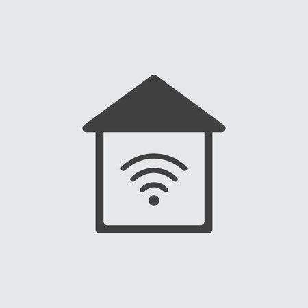 Wireless icon illustration isolated vector Ilustração