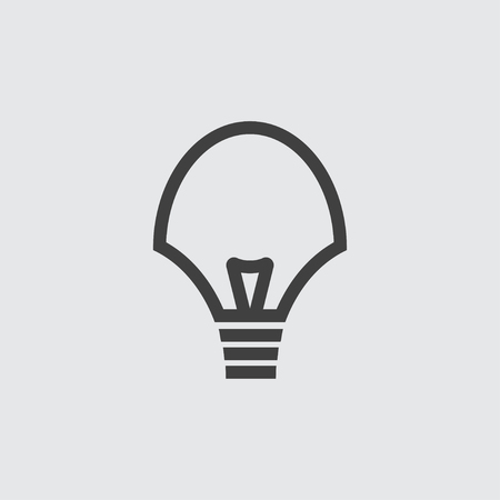 Bulb icon illustration isolated vector