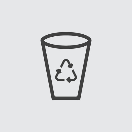 Recycle bin icon illustration isolated vector