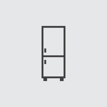 fridge: Fridge icon illustration isolated vector
