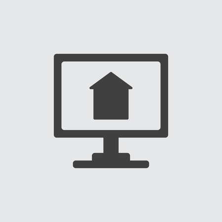 Monitor icon illustration isolated vector
