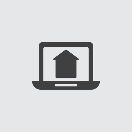 Laptop icon illustration isolated vector